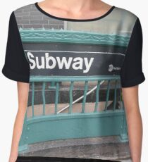 Subway Chiffon Top