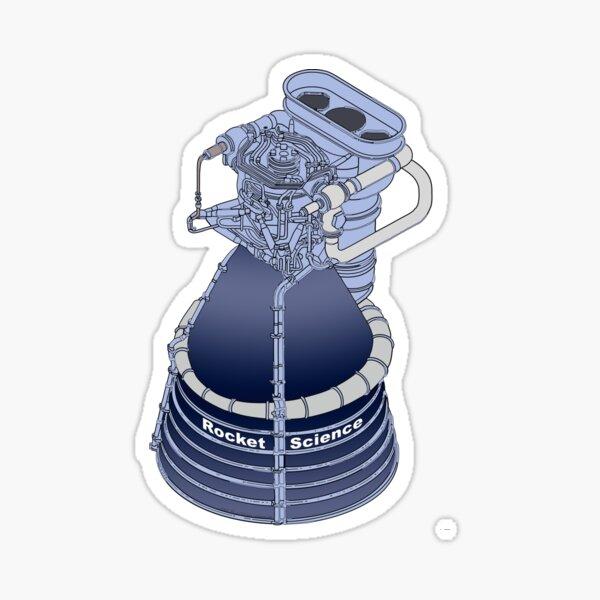 Rocket Science Space Art Sticker