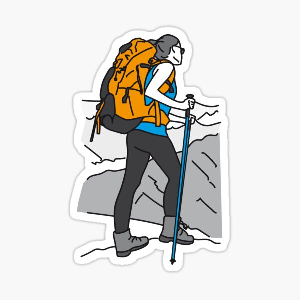 For mountain lovers Sticker