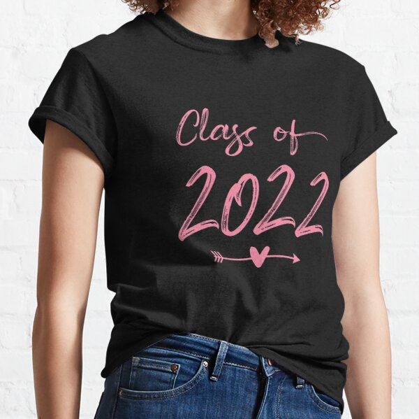 Senior 2022 Class Of 22 Cute Graduation Pink Classic T-Shirt