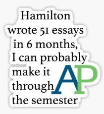 Make it through AP Sticker