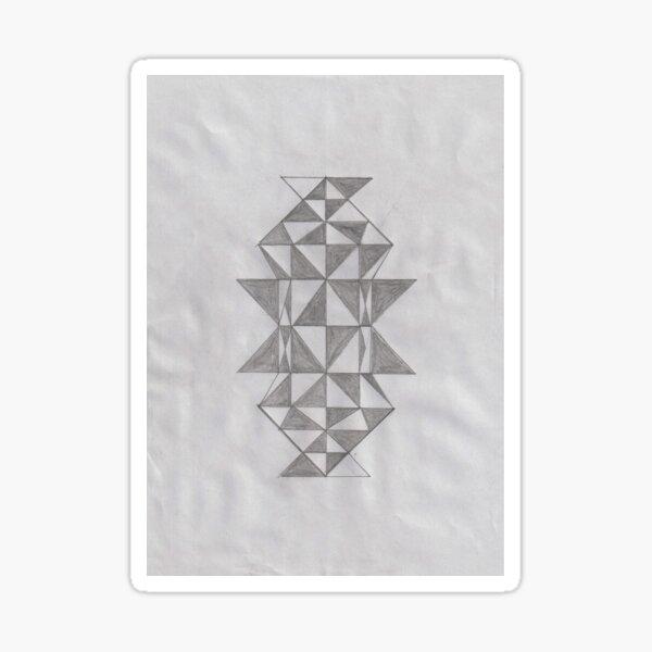 Triangular Geometric Shapes Sticker