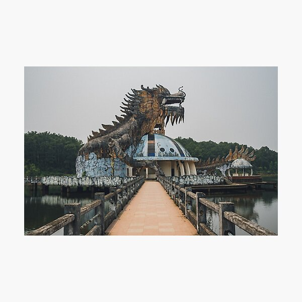 Abandoned water park Photographic Print