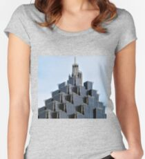 Coporate Ladder Women's Fitted Scoop T-Shirt