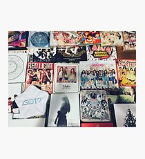 k-pop discography  Photographic Print