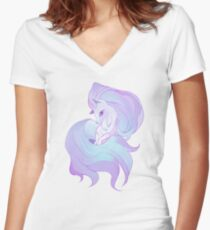 snow fairy Women's Fitted V-Neck T-Shirt
