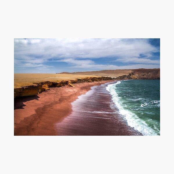 Red beach peru Photographic Print
