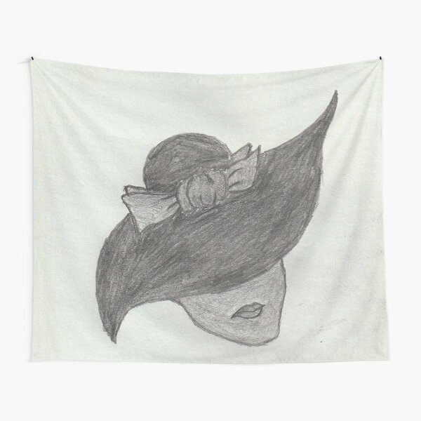 Lady with Lips and Hat Tapestry