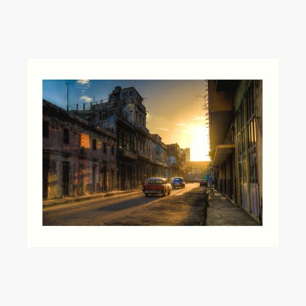 Cuban streets Art Print