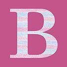 Letter B Blue And Pink Dots And Dashes Monogram Initial by theartofvikki