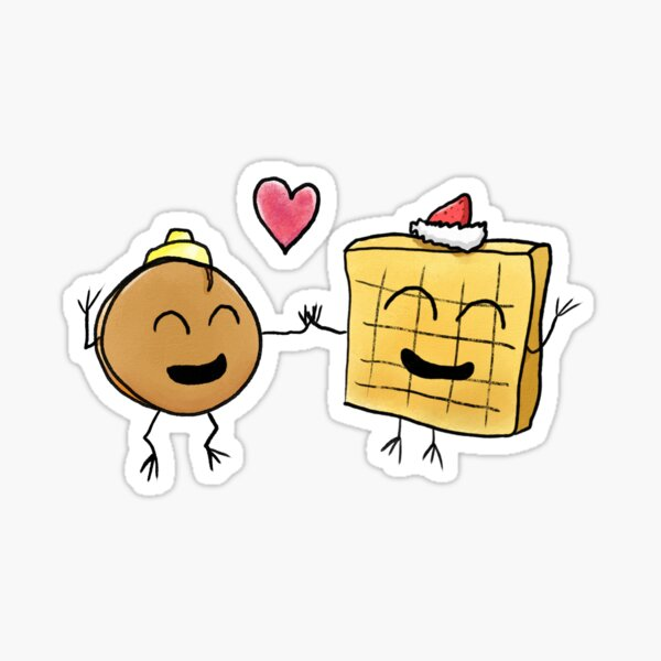Pancake and Waffle - On Their Own Sticker