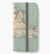 Vintage Map of Martha's Vineyard (1917) iPhone Wallet/Case/Skin