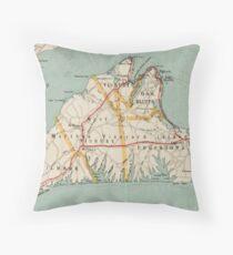 Vintage Map of Martha's Vineyard (1917) Throw Pillow