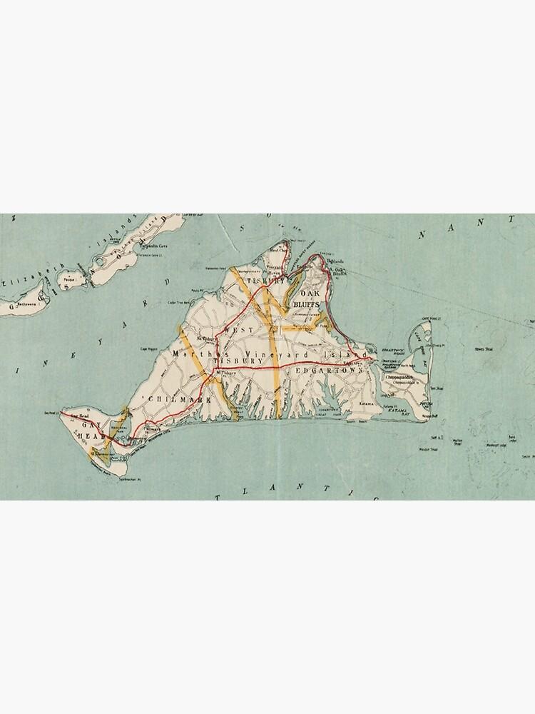 Vintage Map of Martha's Vineyard (1917) by BravuraMedia
