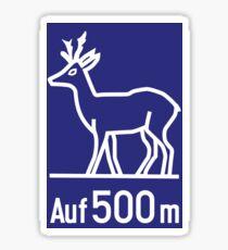 Bundesautobahn (Hirsch Kreuzung Zeichen) Sticker