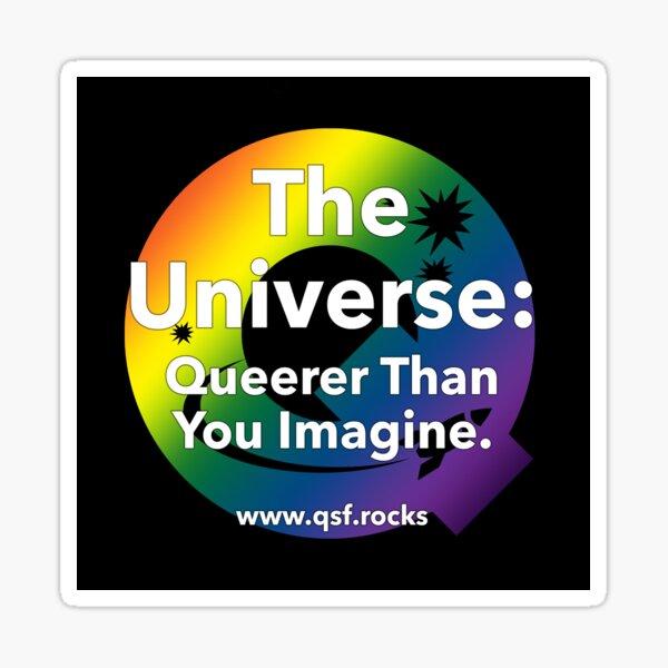 QSF Universe Logo - Black Sticker