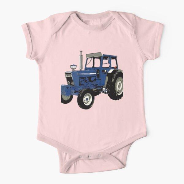 alter ford traktor blau Baby Body Kurzarm