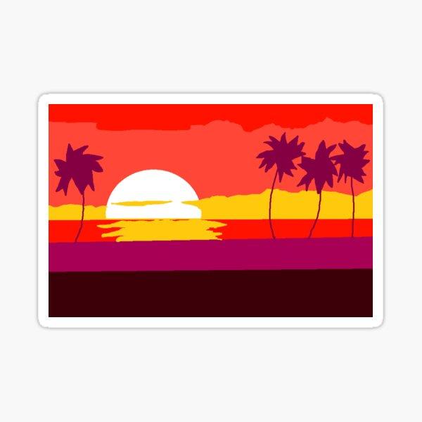 Sun coconut trees Sticker