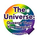 QSF Universe Logo - White by queerscifi