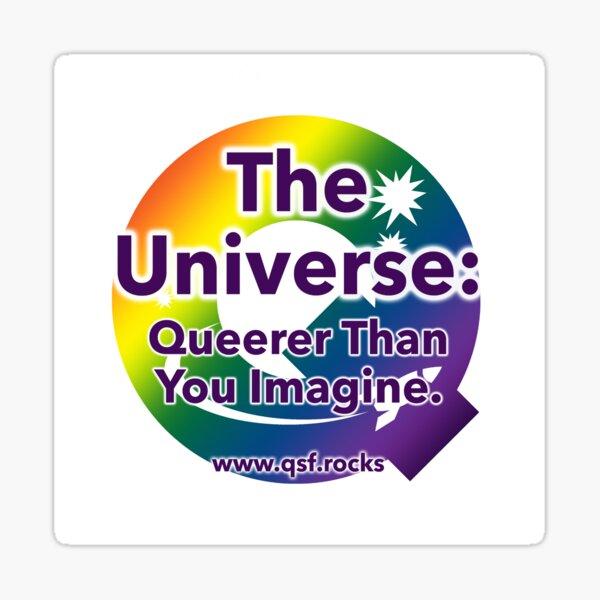 QSF Universe Logo - White Sticker