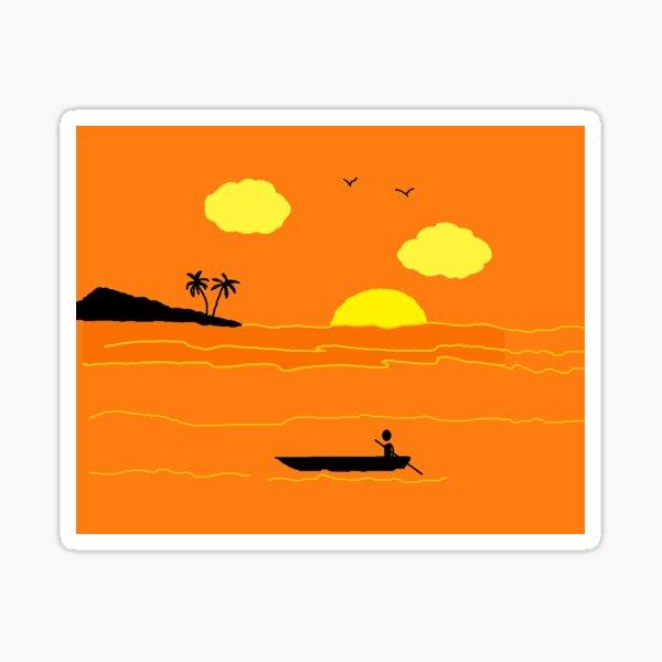 Sun palm trees Sticker