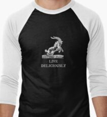 Live Deliciously Men's Baseball ¾ T-Shirt