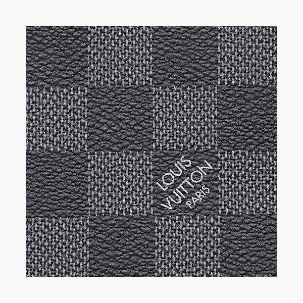 Grey Leather Luxury Louis V Monogram Original Photographic Print