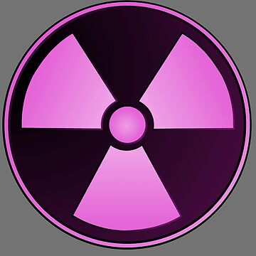 Bright Pink Radioactive Girl Symbol by AMagicalJourney