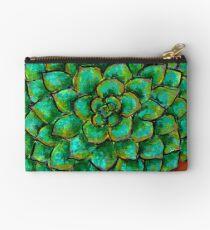 Succulent Mandala Zipper Pouch