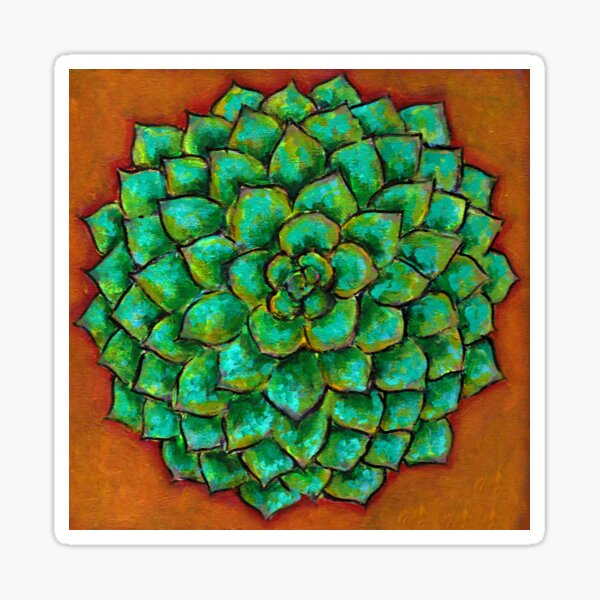 Succulent Mandala Sticker
