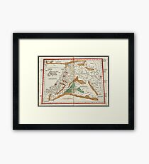 Vintage Map of Mesopotamia (1482) Framed Print