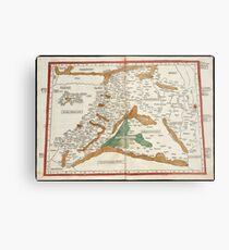 Vintage Map of Mesopotamia (1482) Metal Print