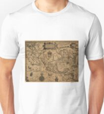 Vintage Map of Mexico (1600) Unisex T-Shirt