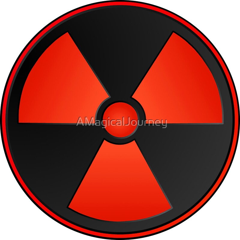 Red Radioactive Symbol Science Stickers By Amagicaljourney Redbubble