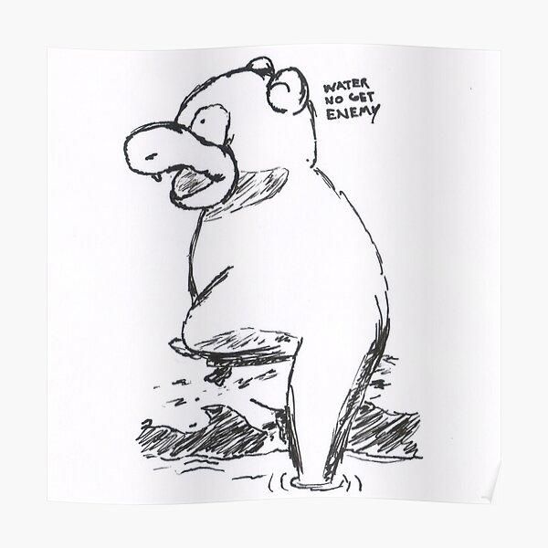 slowpoke - water no get enemy Poster