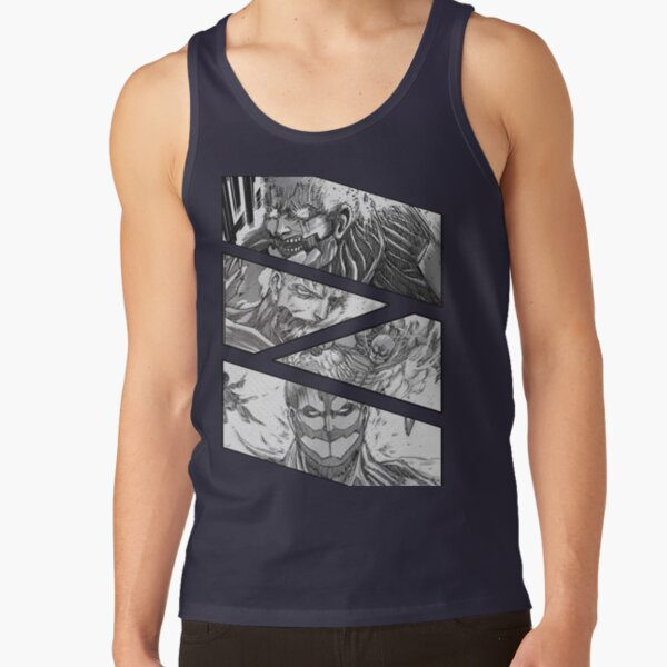 Reiner Braun Titan Form Attack On Titan [ The Armored Titan] Armored Titan Manga Panel  | Gift T-Shirt | Anime T-Shirt Tank Top