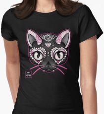 Day of the Kitty PINK Women's Fitted T-Shirt
