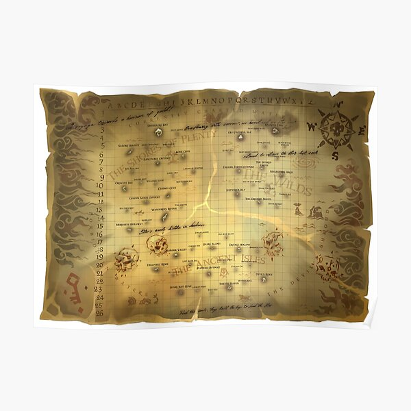 Sea of Thieves Map HQ Poster
