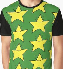 Lucky yellow funny star smiling with eyes open Graphic T-Shirt