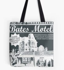 Bates Motel - White Type Tote Bag