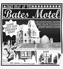 Bates Motel - White Type Poster