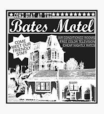 Bates Motel - White Type Photographic Print