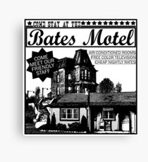 Bates Motel - Black Type Canvas Print