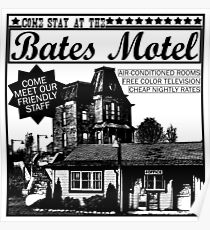 Bates Motel - Black Type Poster