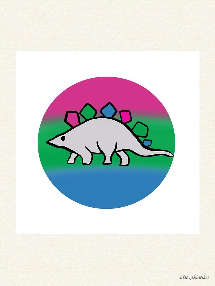 Polysexual pride stegosaurus design by stegobean
