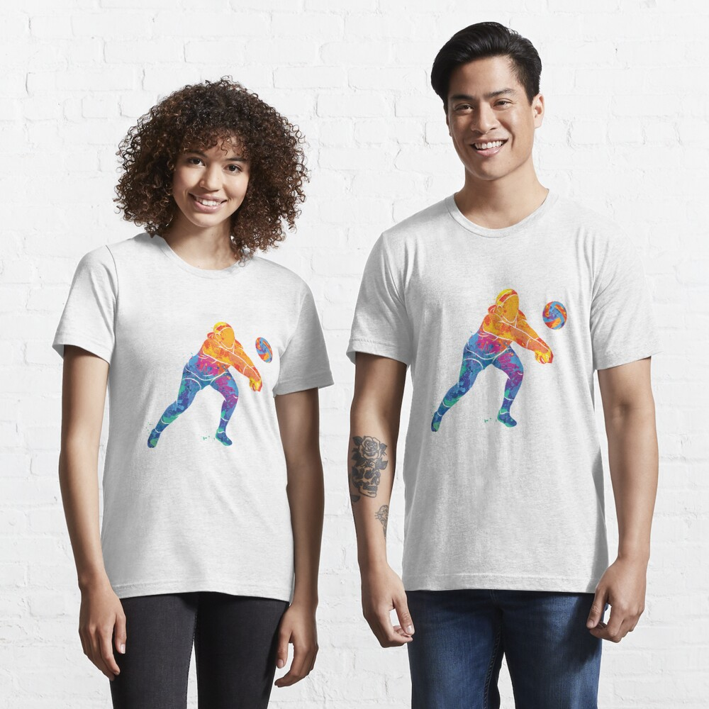 Watercolor Volleyball Girl Essential T-Shirt