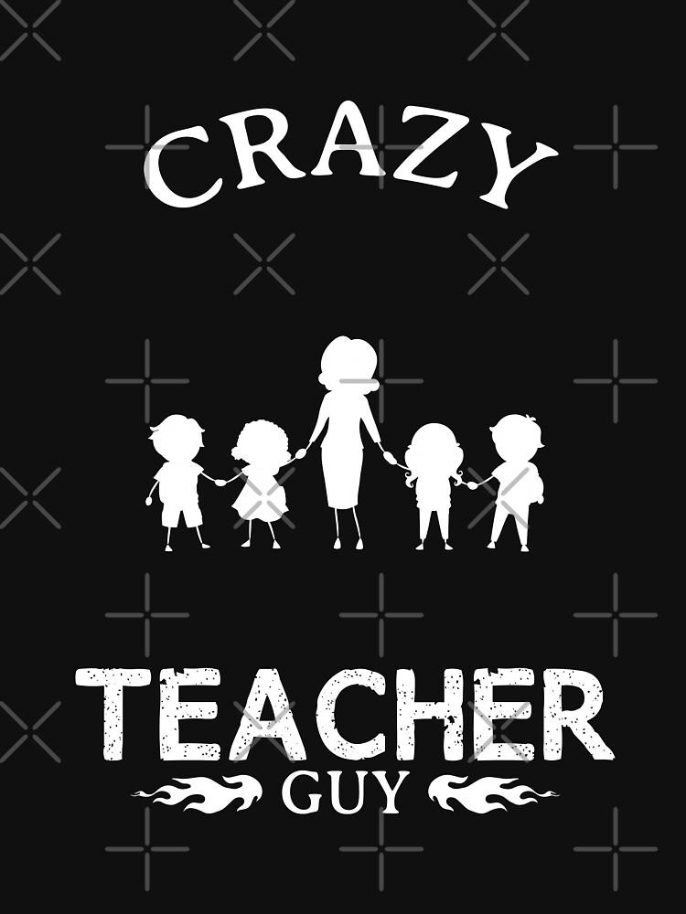 Teacher Guy Funny Design For Gift by jobartdesign