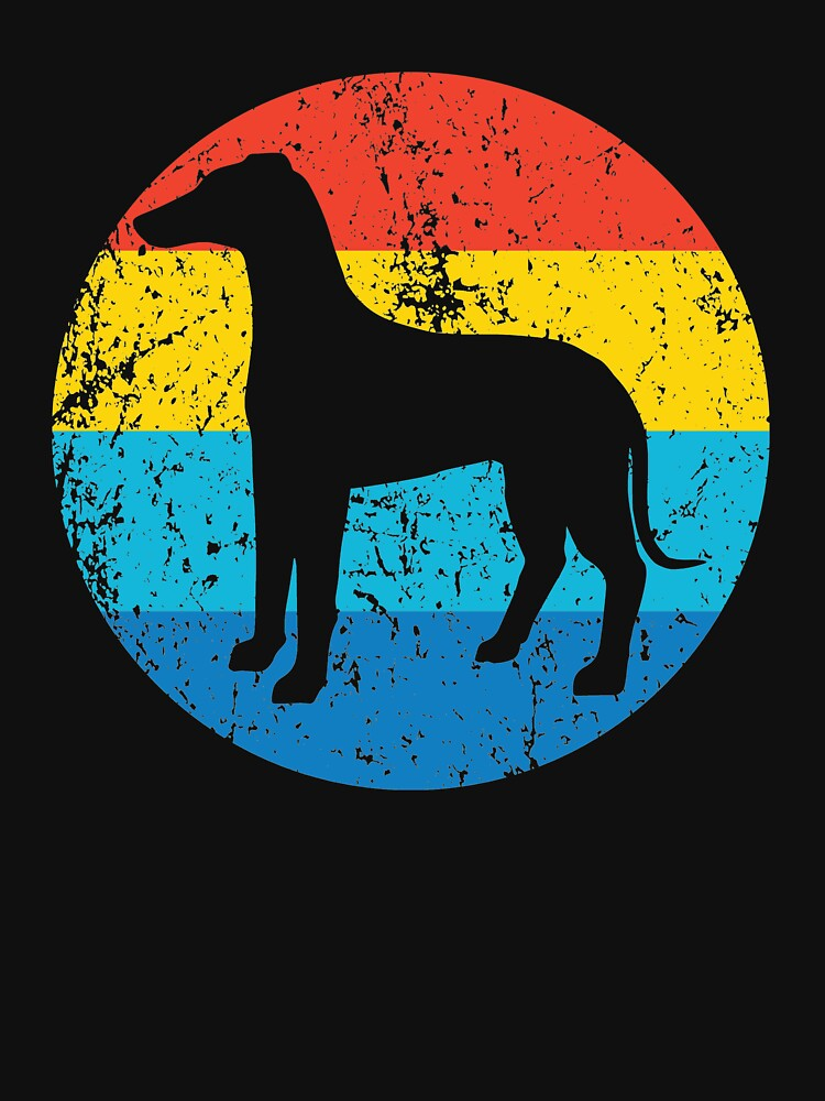 Whippet Dog Breed Silhouette Retro 1970's Circle by ReallyAwesome