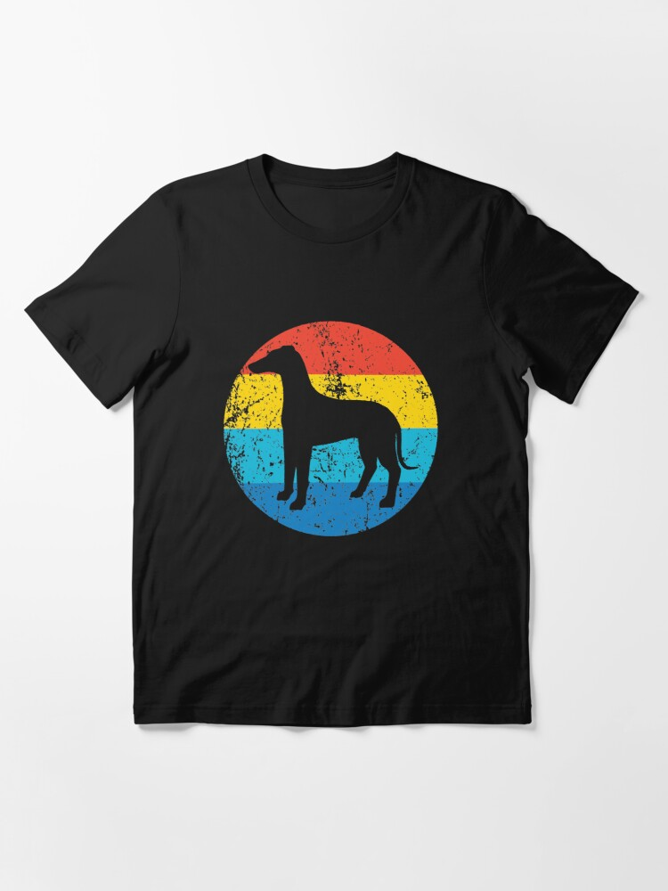 Alternate view of Whippet Dog Breed Silhouette Retro 1970's Circle Essential T-Shirt