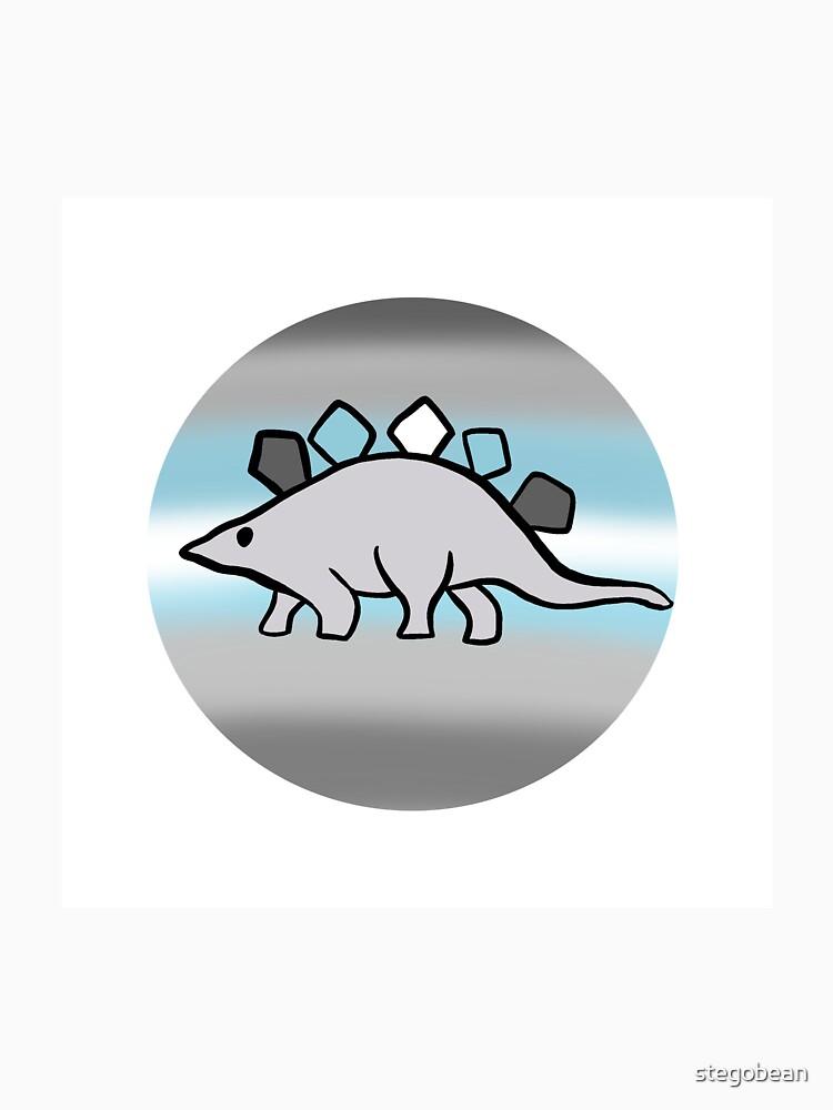 Demiboy pride stegosaurus design by stegobean